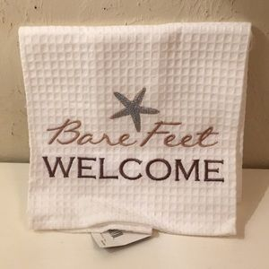 """Other - """"Bare feet Welcome"""" Kitchen Towel NWT"""